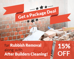 Get a Package Deal for Rubbish Removal along with After Builders Cleaning!